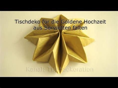 servietten falten goldene hochzeit youtube