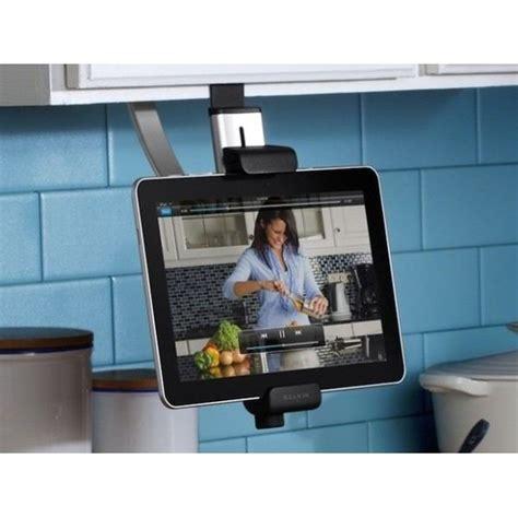 tablette pour cuisine support tablette suspendu spécial cuisine belki prix