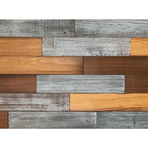 home depot reclaimed wood 3d whole wood 5 16 in x 5 in x 6 in reclaimed wood decorative wall tiles in brown color 10