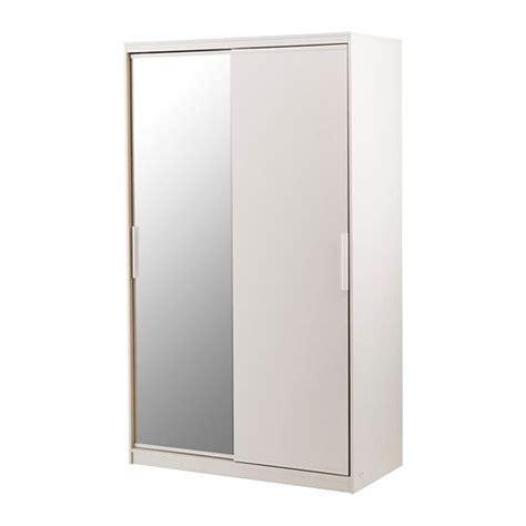 morvik armoire penderie blanc miroir ikea furniture