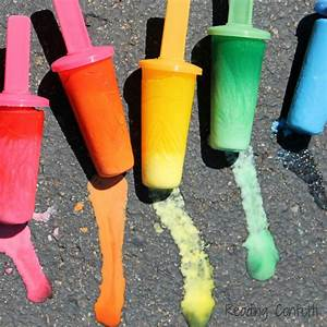 Frozen Popsicle Chalk ~ Reading Confetti  Popsicle