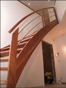 Main Courante Escalier Intérieur : mev sprl escalier en bois sur mesure rampes balustrades ~ Edinachiropracticcenter.com Idées de Décoration