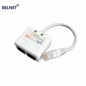 Belnet Rj45 Connector Network Cable Splitter Ethernet