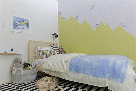 peinture pour une chambre déco montagne dans la chambre de bébé