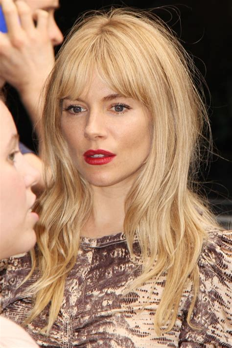 Style Inspiration Sienna Miller Hair Style Cool Chic