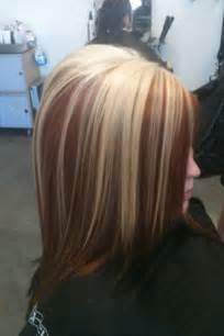 Blonde Hair with Red Lowlights