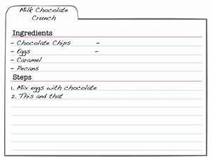 free recipe card templates for microsoft word With index card template for pages