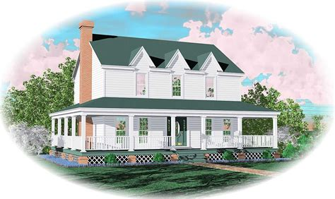 the two story house plans with wrap around porch farmhouse home plan with wrap around porch 58277sv 2nd
