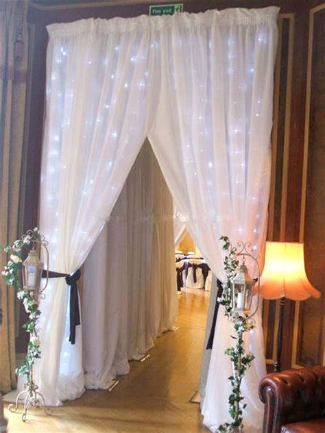 wedding reception drapery wedding entrance draping designer chair covers to go