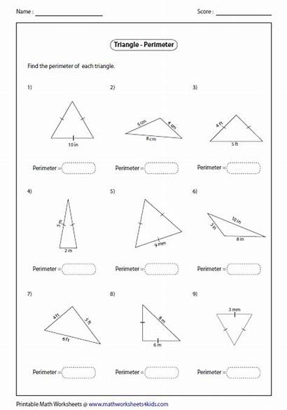 Perimeter Triangles Triangle Worksheets Area Congruent Sides