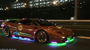 Japanese Boy Racers Whose Lamborghinis Flash Through-night