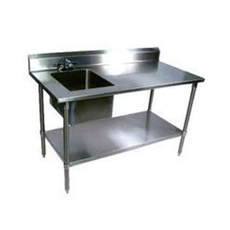 Kitchen Table   Stainless Steel Platform Table
