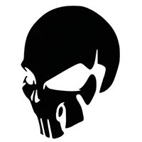 skull die cut vinyl decal pv pirate vinyl decals