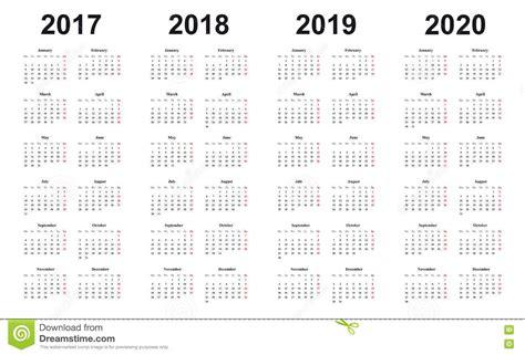 calendar simple design sundays marked red