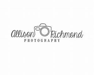 Unique photography Logo Design Custom by RedMeadowDesignCo