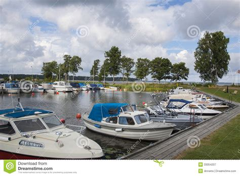 Small Boat Harbor by Small Boat Harbor Royalty Free Stock Photography Image