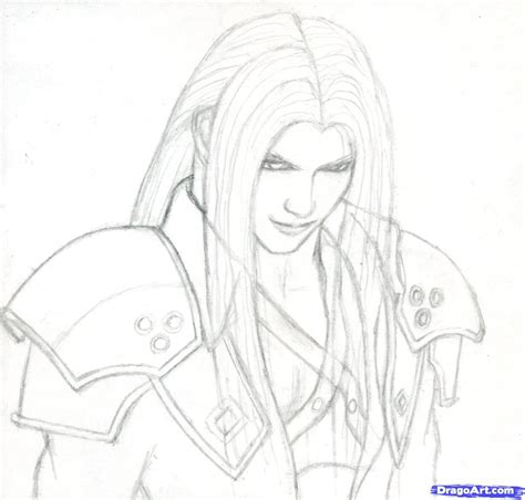 Coloring Drawing by How To Draw Anime Step 7 How To Draw Sephiroth