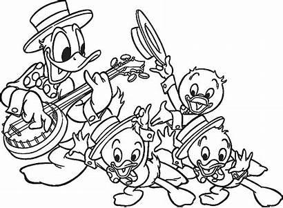 Donald Coloring Pato Duck Colorir Desenhos Playing