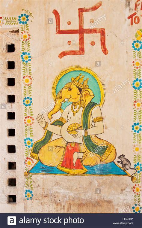 wall art depicting ganesh  elephant god   hindu