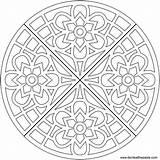 Coloring Geometric Heart Effect Blogx Info Waffle Mandala Transparent Format sketch template