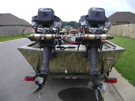 Duck Boat Exhaust by Surface Drive Mud Motor Waterfowl
