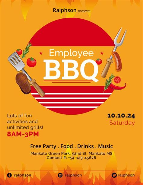 bbq party flyers word psd vector eps indesign
