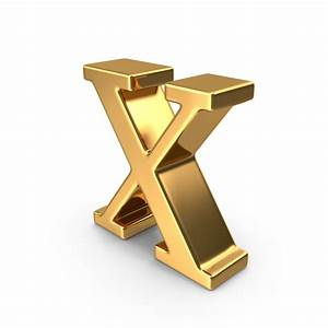 gold small letter x png images psds for download With small gold letters