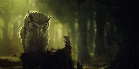 Animated Owl Wallpaper - animated owl desktop background