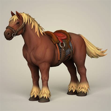 horse muscular saddle 3d wireframes