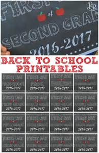 Back to School Free Printable Signs 2016 2017