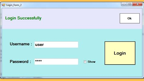 c how to create login form in c with mysql database
