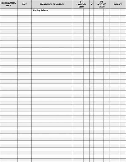 Register Printable Check Pdf Checkbook Calendar Blank