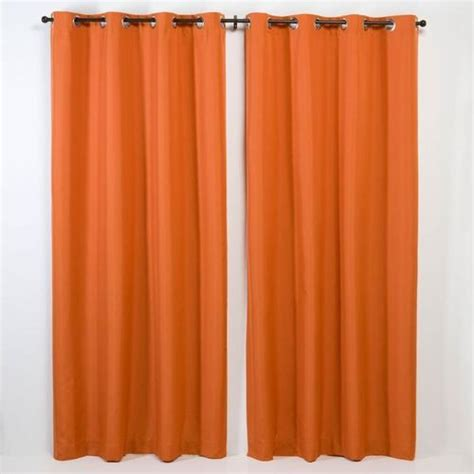 all weather solid curtain panels at brookstone buy now