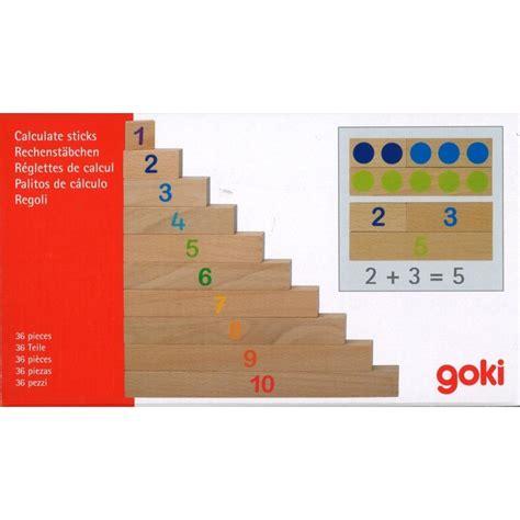 Réglettes de calcul - jeu mathématiques en bois Goki