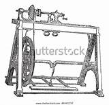 Lathe Machine Spindle Woodturning Engraved Shutterstock Trousset Encyclopedia Carriage Horse sketch template