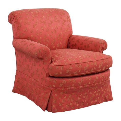 84% Off  Custom Red Upholstered Skirted Accent Chair Chairs