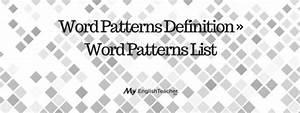word patterns definition word patterns list