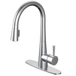 aquasource kitchen faucet aquasource 1 handle pull sink counter mount kitchen faucet lowe 39 s canada