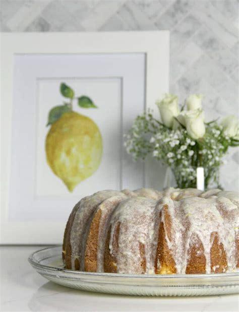 Easy Lemon Pound Cake With Lemon Glaze  Southern Food And Fun