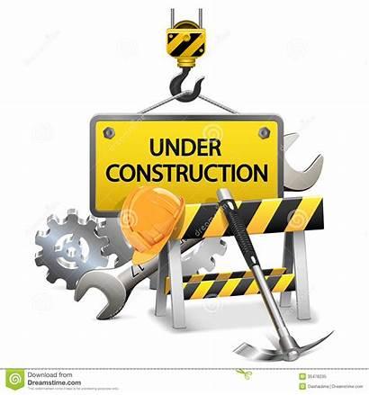 Construction Concept Under Frame Vektor Vecteur Konzept