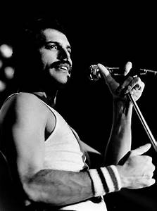 freddie mercury, queen, black, black and white - image ...