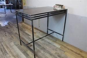 Table Mange Debout Style Industriel : mange debout acier loft industeel ~ Melissatoandfro.com Idées de Décoration