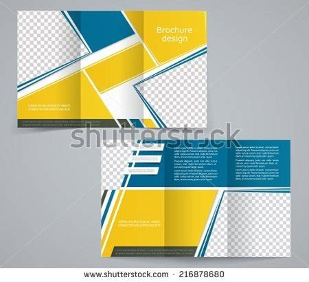 Design Folding Brochures Print Template Flyer Stock Vector 3 Fold Leaflet Stock Images Royalty Free Images Vectors