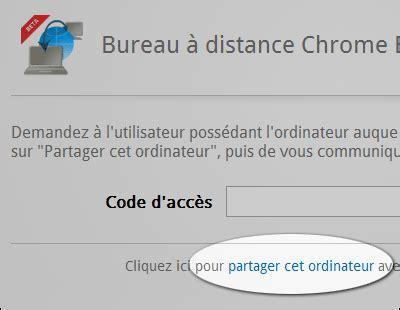accès bureau à distance chrome remote desktop prendre le contrôle d 39 un
