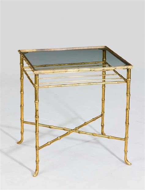 faux bamboo table l french faux bamboo end table for sale at 1stdibs
