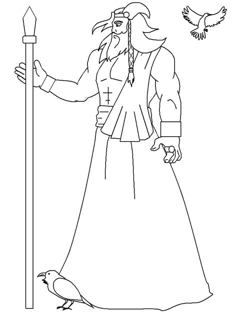 norway odin countries coloring pages coloring book