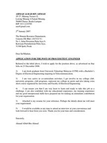 cover letter resume malaysia sle contoh cover letter n resume telecommunication