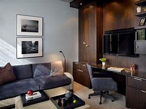 15 ideas for a multipurpose office work space With home office living room ideas