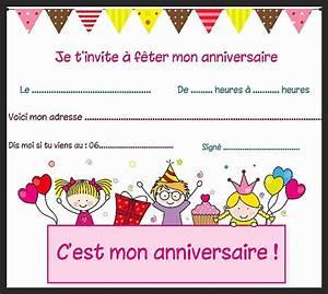 Invitation Anniversaire Fille 9 Ans : carte invitation anniversaire pour fille de 9 ans dermaflage ~ Melissatoandfro.com Idées de Décoration