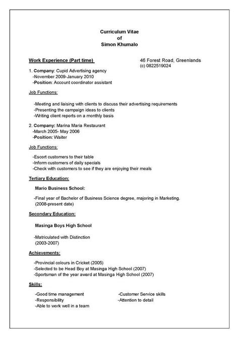 Writing A Resume For Students by Tips For Writing A Resume For High School Students